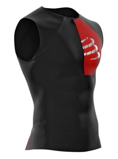 Compressport Postural Tank Top | CZARNA