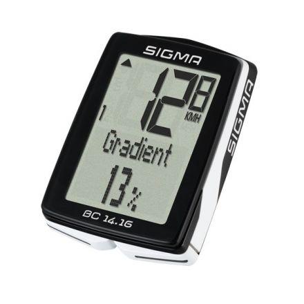 Sigma BC 14.16 - wielofunkcyjny  licznik rowerowy
