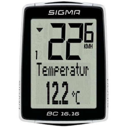 Sigma BC 16.16 - wielofunkcyjny  licznik rowerowy