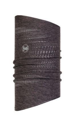 Buff® Dryflx Neckwarmer US R-Black - rurkowa Chusta wielofunkcyjna z licznymi elementami odblaskowymi