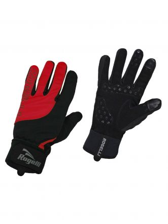 Rogelli Winer Gloves Storm | CZERWONE