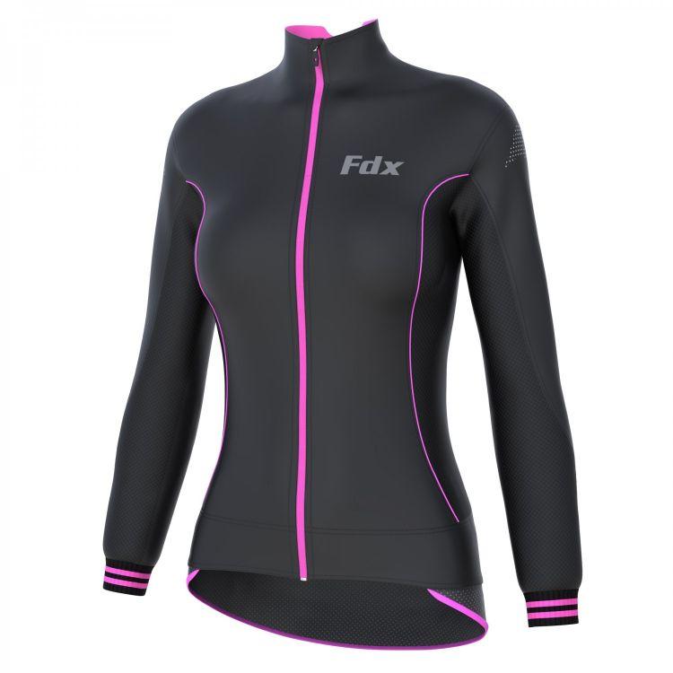 FDX Women's Thermal Softshell Breathable Jacket - damska kurtka kolarska