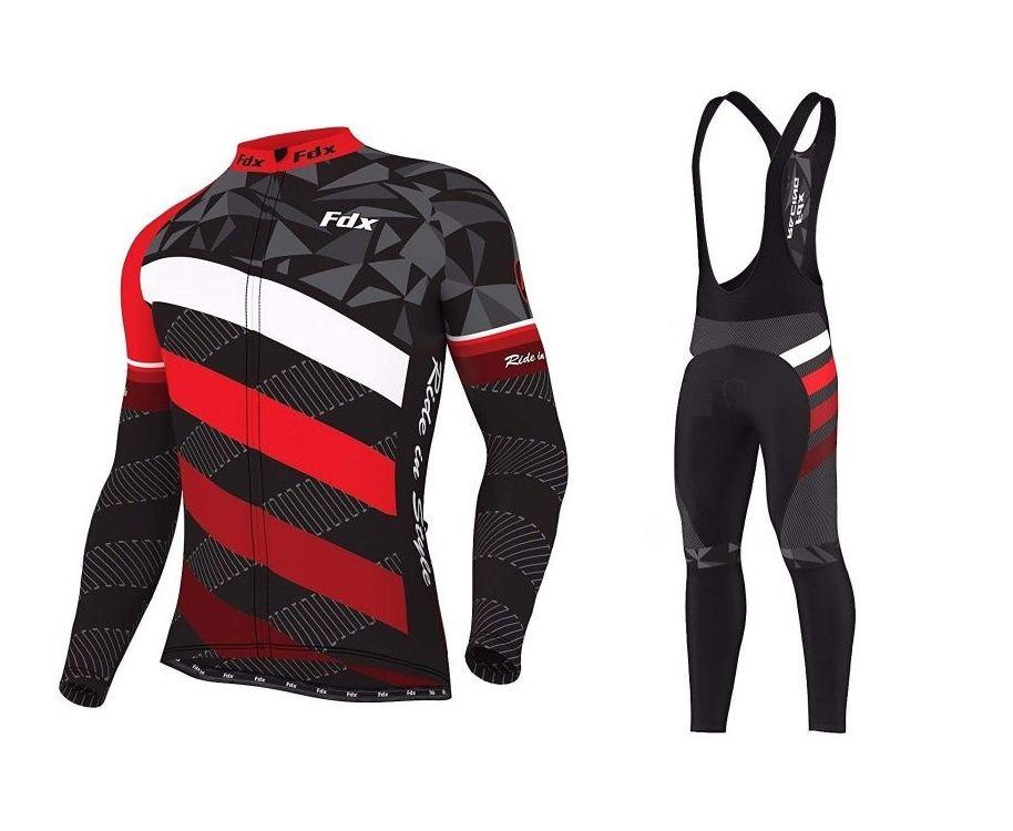 Męski zestaw zimowej odzieży rowerowej FDX