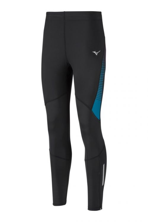 Mizuno Static BT Tight M | CZARNO - NIEBIESKIE - męskie getry do biegania J2GB8534-95
