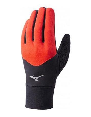 Mizuno Warm Lite Glowe | CZERWONO - CZARNE - rękawiczki do biegania  J2GY7501Z-96