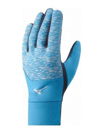 Mizuno Windproof Glove | CZARNO-NIEBIESKIE - rękawiczki do biegania z membraną wiatroodporną J2GY8551Z-12