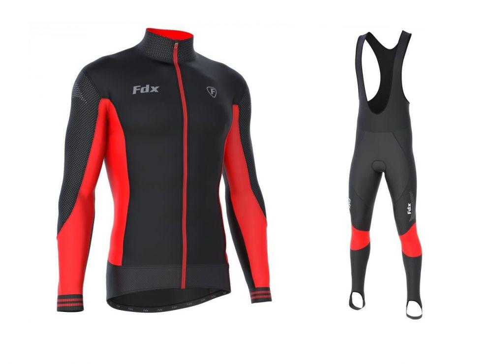 FDX Thermal Winter Set - męski zestaw odzieży kolarskiej