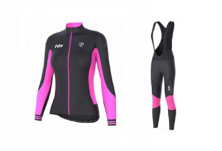 FDX Women's Thermal Set | CZARNO RÓŻOWY