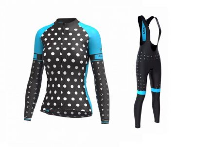 FDX Women's Thermal Biking SET LE | CZARNY  - NIEBIESKI