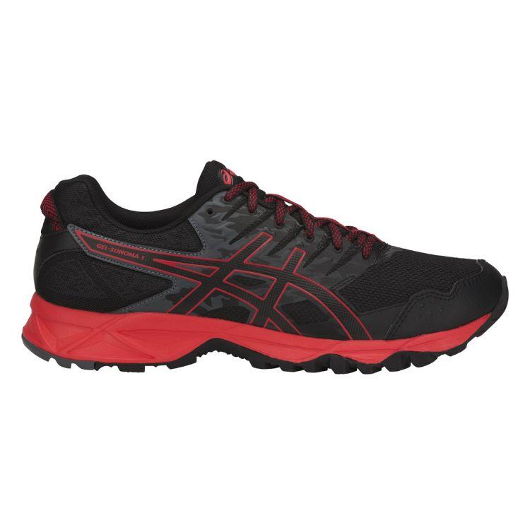 Asics Gel-Sonoma 3 | CZARNO-CZERWONE - męskie buty do biegania w terenie T724N-9023