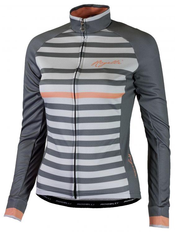 Rogelli Ispira | SZARO - KORALOWA - damska bluza rowerowa 010_155