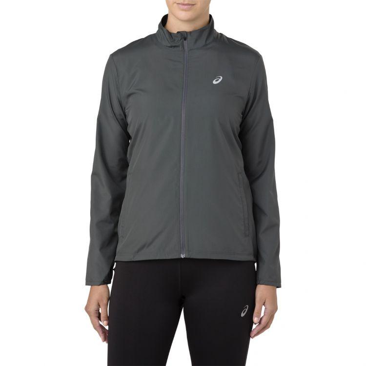 Asics Silver Jacket W   SZARA - damska kurtka do biegania 2011A035-020
