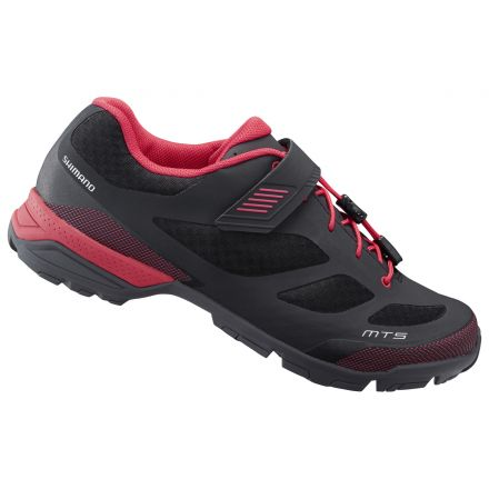 Shimano MT5 Women | CZARNO - CZERWONE - damskie buty do turystki rowerowej sh-mt501