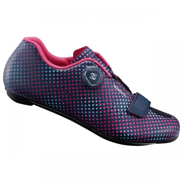 Shimano RP5 Women | CZARNO-RÓŻOWE - damskie buty do wyczynowej jazdy szosowej SH-RP501