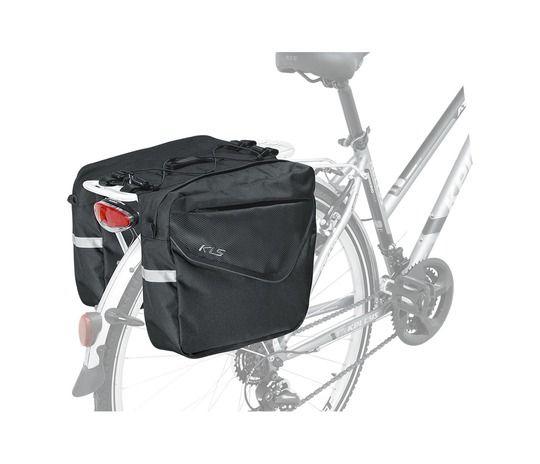 Kellys Adventure 40 - zestaw dwóch dużych bocznych sakw rowerowych na tylny bagażnik