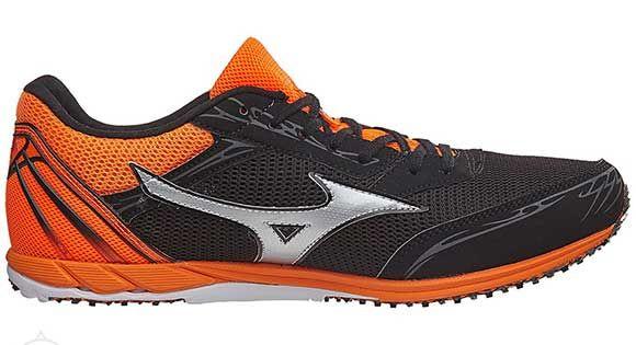 Mizuno Ekiden 11 | CZARNO-POMARAŃCZOWY - męskie buty do biegania UIGD162005