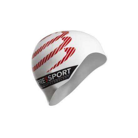 Compressport Silicone Swimming Cap | BIAŁY