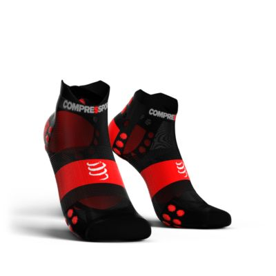Compressport Pro Racing Socks Ultra Light V3.0 LOW | CZARNE - kompresyjne skarpety typu stopki do biegania RSLULV3_99RD