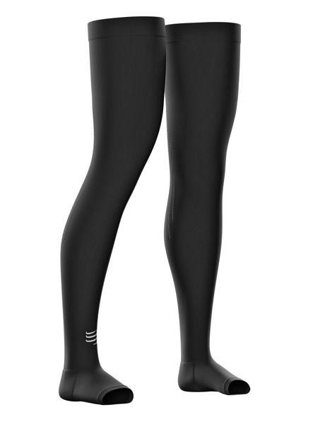 Compressport Total Full Leg | CZARNE - nogawki regeneracyjne FLV2-99