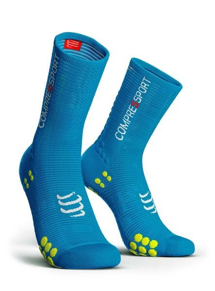 Compressport Pro Racing Socks V3.0 Run HIGH BIKE | NIEBIESKIE - kompresyjne skarpety rowerowe BSHV3-5020
