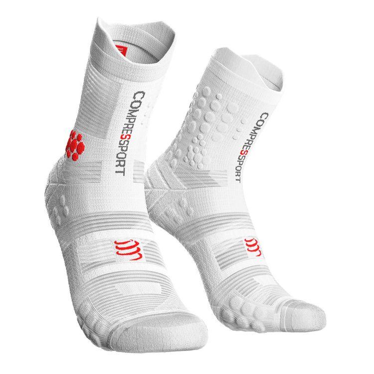 Compressport Pro Racing Socks V3.0 Trial | BIAŁE - kompresyjne skarpety biegowe trial TSHV3-0000