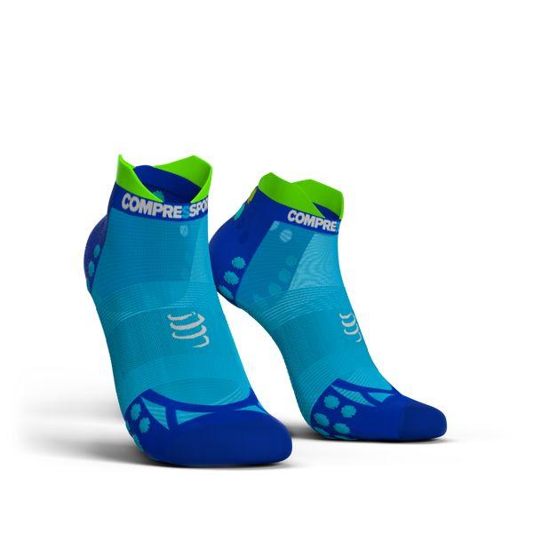 Compressport Pro Racing Socks Ultra Light V3.0 LOW | NIEBIESKIE - kompresyjne skarpety typu stopki do biegania RSLULV3-FL5020