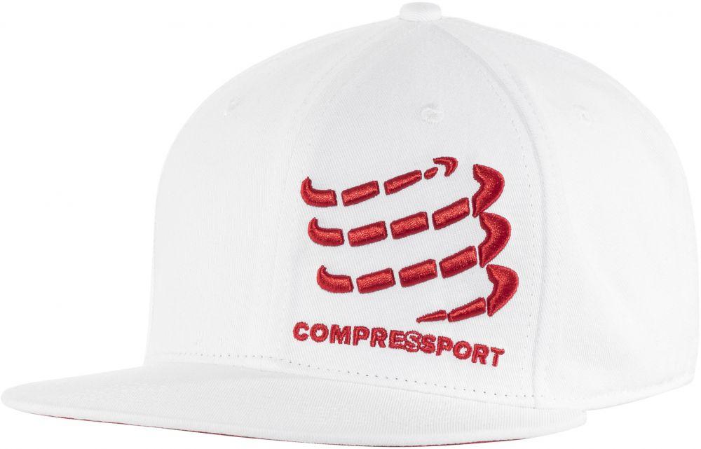 Compressport Flat Cap | BIAŁA - czapeczka z daszkiem