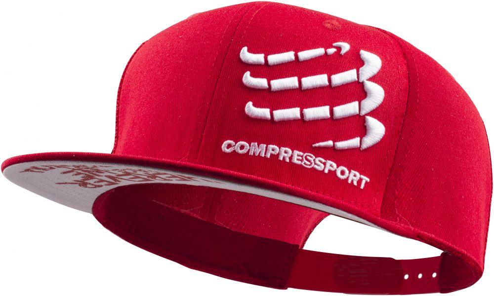 Compressport Flat Cap | CZERWONA - czapeczka z daszkiem