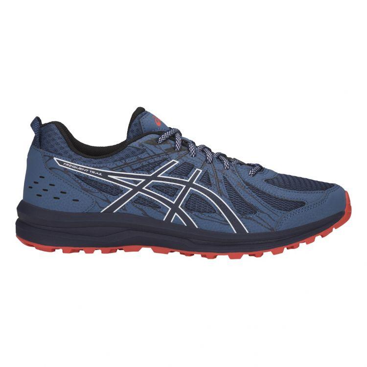 Asics Frequent Trail | CZARNO - SZARY - męskie buty do biegania w terenie 1011A034-401