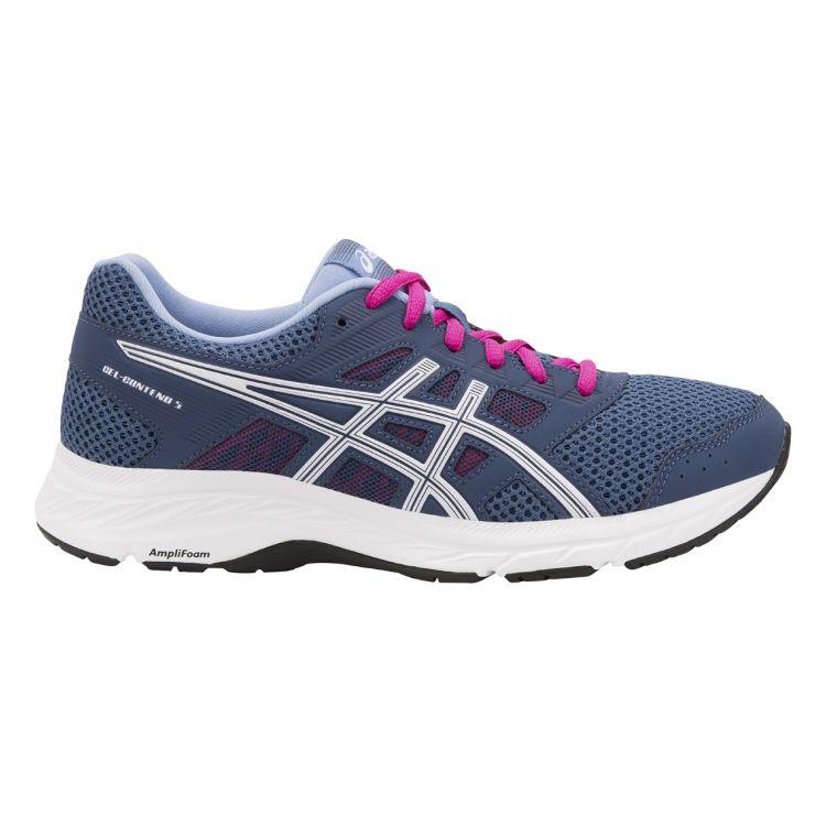 Asics Gel Contend 5 | GRANATOWO - BIAŁE - damskie buty do biegania 1012A234-401