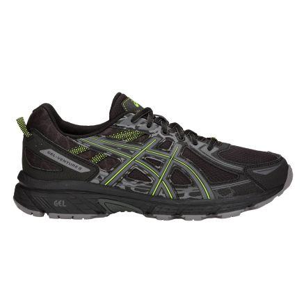 773a9987 Asics Gel-Venture 6 | CZARNO-ZIELONE - męskie buty do biegania w terenie ...