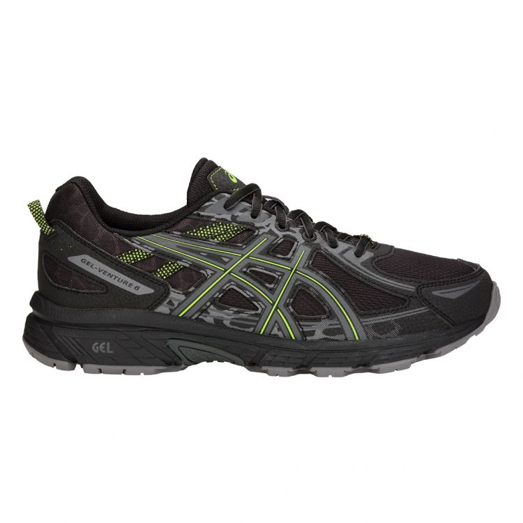 Asics Gel-Venture 6 | CZARNO-ZIELONE - męskie buty do biegania w terenie T7G1N-001