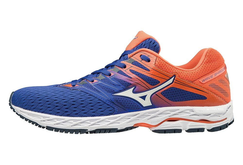 a69c545f ... Mizuno Wave Shadow 2 | NIEBIESKO-POMARAŃCZOWE - męskie buty do biegania  J1GC183007 ...