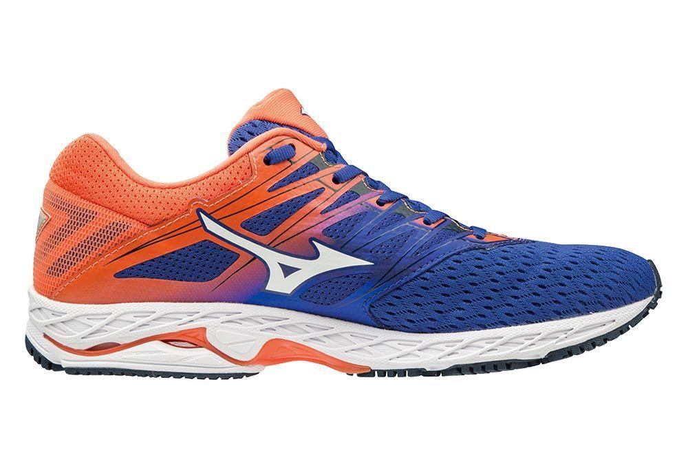 5681ec7f Mizuno Wave Shadow 2 | NIEBIESKO-POMARAŃCZOWE - męskie buty do biegania  J1GC183007 ...