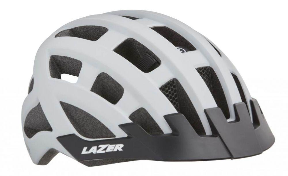 Lazer Compact DLX White 2019 - kask rowerowy