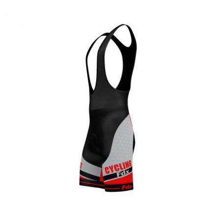 FDX Optimum Cycling Bib Shorts | CZARNO-CZERWONE