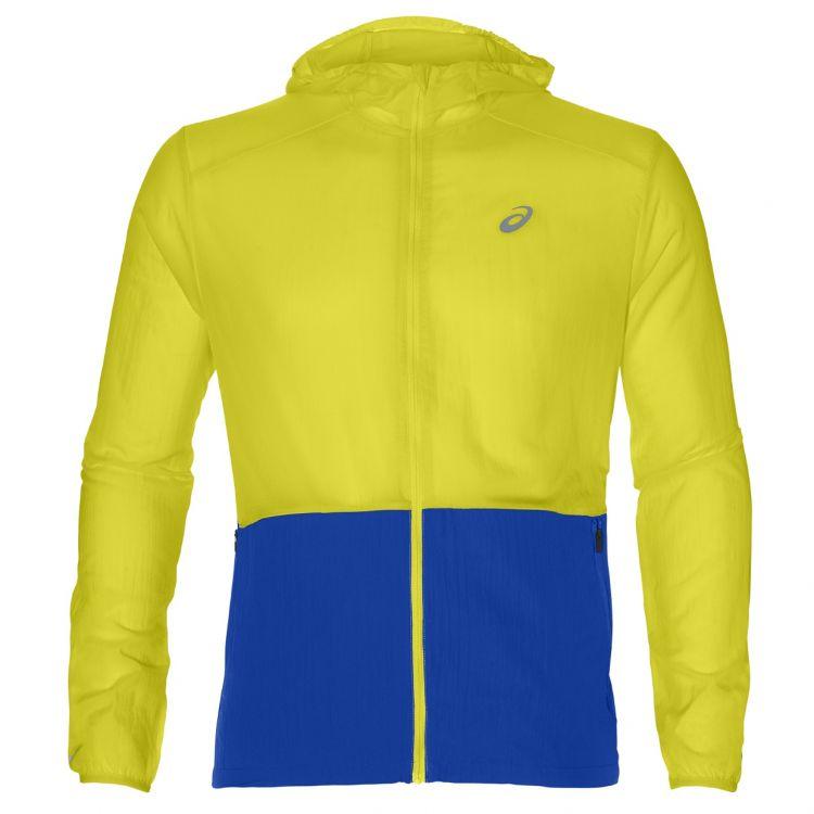 Asics Packable Jacket | ŻÓŁTO NIEBIESKIE Kurtka do biegania męska