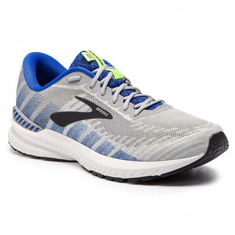 Brooks Ravenna 10 | SZARO-NIEBIESKIE męskie buty do biegania 1102981D082