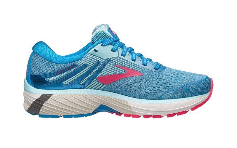 Brooks Adrenaline GTS 18 | NIEBIESKO-ROŻOWE damskie buty do biegania 1202681B408