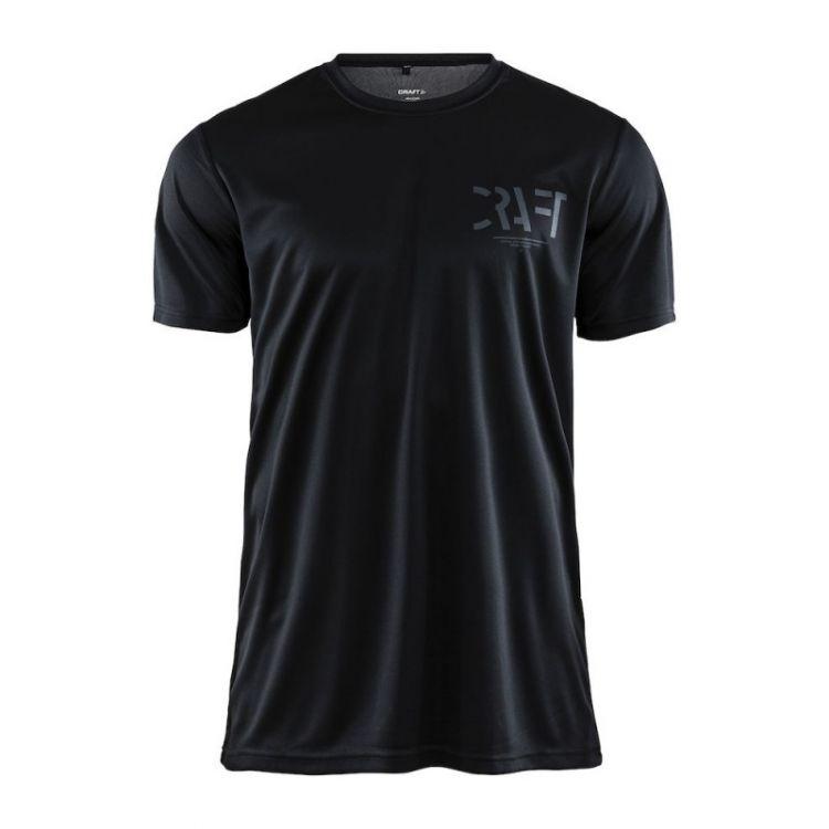 Craft Eaze SS Graphic Tee | BLACK-SPHAL - męska koszulka biegowa 1906034-999995