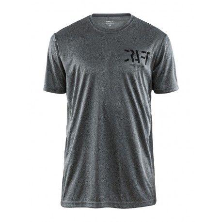 Craft Eaze SS Graphic Tee | GREY MELA - męska koszulka biegowa  1906034-975999