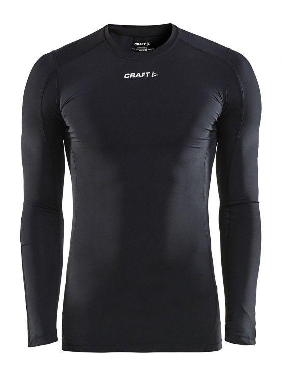 Craft Pro Control Compression Tee | CZARNE- męska bluza biegania z właściwościami kompresyjnymi 1906856-999000