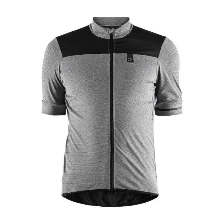 Craft Point Jersey   SZARO-CZARNA - Męska koszulka rowerowa 1906098-975999