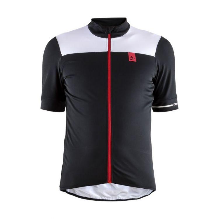 Craft Point Jersey   CZARNO-BIAŁA - Męska koszulka rowerowa 1906098_999900