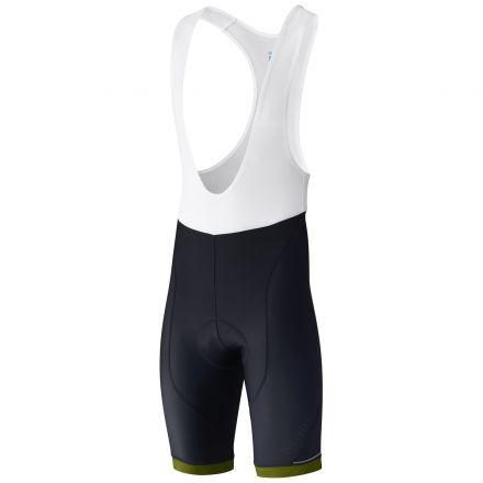 Shimano Aspire Bib Shorts | CZARNO-ŻÓŁTE