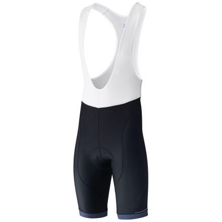 Shimano Aspire Bib Shorts | CZARNO-NIEBIESKIE