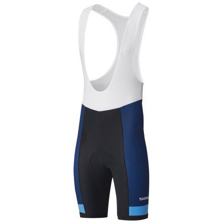 Shimano Team Bib Shorts | CZARNO-GRANATOWY - męskie spodenki kolarskie ECWPAPSSS21MN