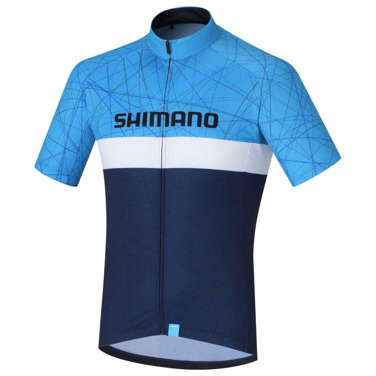 Shimano Team Jersey | NIEBIESKO-CZARNA - męska koszulka rowerowa ECWJSPSSS21MN
