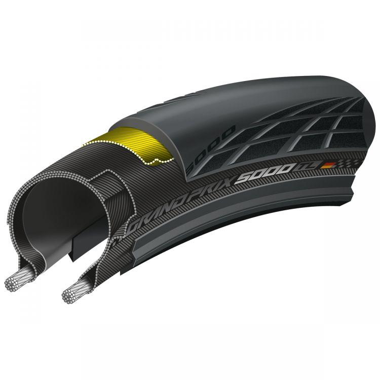 Continental Grand Prix 5000 Vectran II 700X25C- zwijana opona rowerowa na szosę 0101624