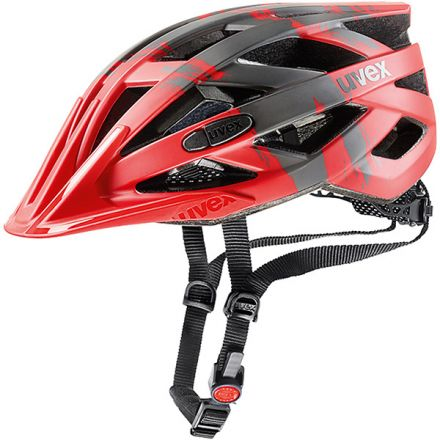 Uvex I-vo CC | Red DarkSilver Mat - kask rowerowy
